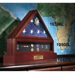 Cherry Deluxe Flag Display Case (Frosted Embossed)