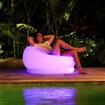 Inflatable Color-Changing Chair