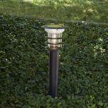 Black Stainless Steel Bollard Solar Light