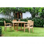 Venice Bistro/Dining Set (Table and Set of 4 Chairs)