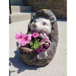 Wooden Hedgehog Planter