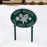 Holiday Lawn Plaque (Oval)