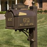 Matching Post and Bracket (for Estate Mailbox )