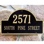 Arched Estate House Marker (Wall)