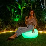 Inflatable Color-Changing Ottoman