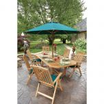 Six-person Teak Outdoor Dining Set
