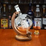 High Seas World Globe Decanter with Stand