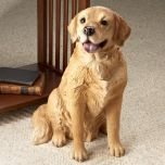 Golden Retriever Dog Statue
