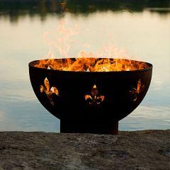 Fleur De Lis Designer Fire Pit
