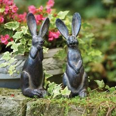 Resin Garden Rabbits (Set of 2)