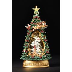 North Pole Christmas Tree Snowglobe