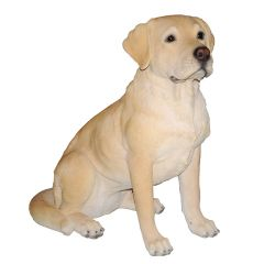 Golden Lab Dog Statue