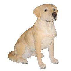 Golden Lab Dog Statue