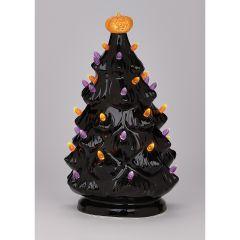 Retro Lighted Halloween Tree
