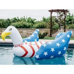 Giant Bald Eagle American Flag Pool Float