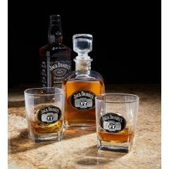 Jack Daniel's Decanter and Double Glass Set