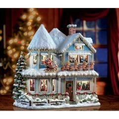 Thomas Kinkade Narrated Christmas Story House