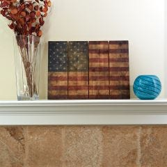 "Wooden American Flag Wall Art (22"" x 16"")"