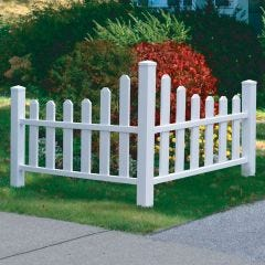Decorative Corner Picket Fence