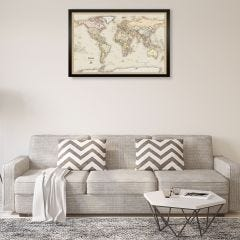Personalized World Travelers Map
