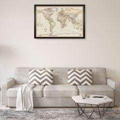 Personalized World Travelers Map