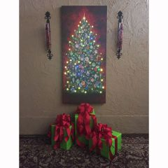 LED Christmas Tree Canvas