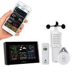 Wind and Weather Station with AccuWeather Forecast