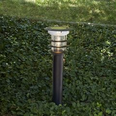 Black Stainless Steel Bollard Solar Light