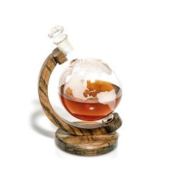 World Globe Decanter with Stand
