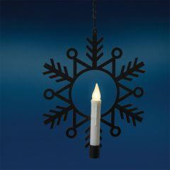 LED Candle Window Wreath