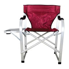 Heavy Duty Collapsible Lawn Chair (Burgundy)