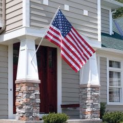 Tangle Free Flagpole with American Flag