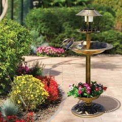 Solar Birdbath with Planter