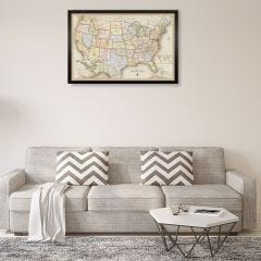 Personalized USA Travelers Map