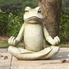 Meditating Frog Statue