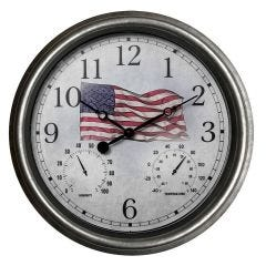 EZ Read Americana Indoor/Outdoor Wall Clock