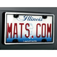 WeatherTech License Plate Cover (Brushed Stainless)