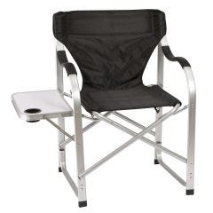 Heavy Duty Collapsible Lawn Chair (Black)