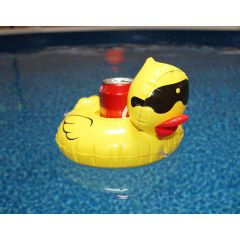 Inflatable Derby Duck Drink Holders (Set of 4)