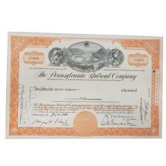 Pennsylvania Railroad Company Certificate of Stock