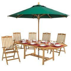 Eight-person Teak Outdoor Dining Set