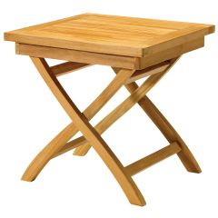 Outdoor Teak Folding Side Table