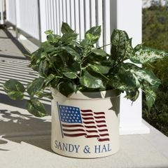 Personalized Flag Crock