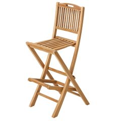Teak Pub Outdoor Tall Chair