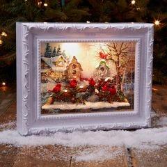 Cardinal Snow Globe Picture Frame