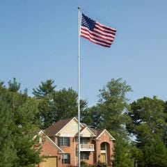 Telescoping Flagpole with Flag (17 ft. Pole - 3'x5' Flag)