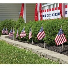 Large Stick US Flags (12-pack)