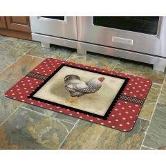 Polka Dot Hen Premium Comfort Mat