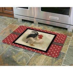 Cream & Black Rooster Premium Comfort Mat