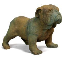 Little Bulldog Fiber Stone Statue